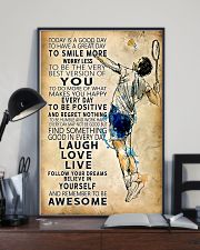 Badminton Today Is A Good Day 11x17 Poster lifestyle-poster-2