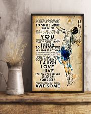 Badminton Today Is A Good Day 11x17 Poster lifestyle-poster-3