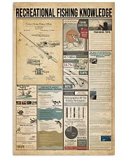 Recreational fishing knowledge 11x17 Poster front