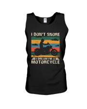 I Don't Snore Motorcycle Unisex Tank thumbnail