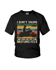 I Don't Snore Motorcycle Youth T-Shirt thumbnail