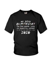 50th birthday essential worker Youth T-Shirt thumbnail