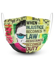 FM-H-2207204-TT-RBG when injustice 2 Layer Face Mask - Single front