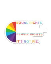 Its not pie yard sign Sticker tile
