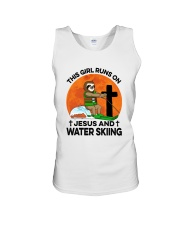 Water skiing Sloth Runs On Girl Unisex Tank thumbnail