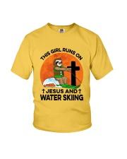 Water skiing Sloth Runs On Girl Youth T-Shirt thumbnail