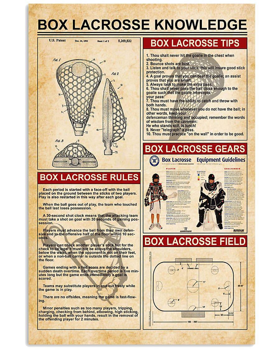 Box lacrosse knowledge 11x17 Poster