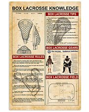Box lacrosse knowledge 11x17 Poster front