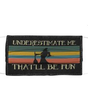 Witch underestimate retro Cloth face mask thumbnail