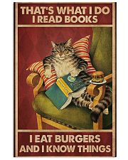 Cat Reads Books And Eat Burgers Poster 11x17 Poster front