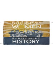 Well behaved women puzzle Cloth face mask thumbnail