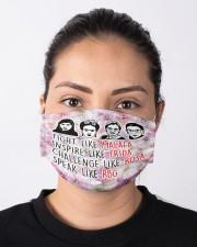 RBG Frida Kahlo inspire Cloth face mask aos-face-mask-lifestyle-01