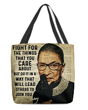 RBG fight poster All-Over Tote tile
