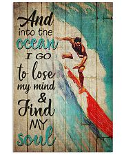 Surfing And Into The Ocean Vintage 11x17 Poster front