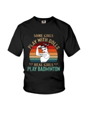 Badminton Real Girls Play Youth T-Shirt tile