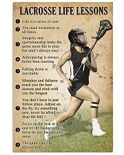 Lacrosse Life lessons girl 11x17 Poster front