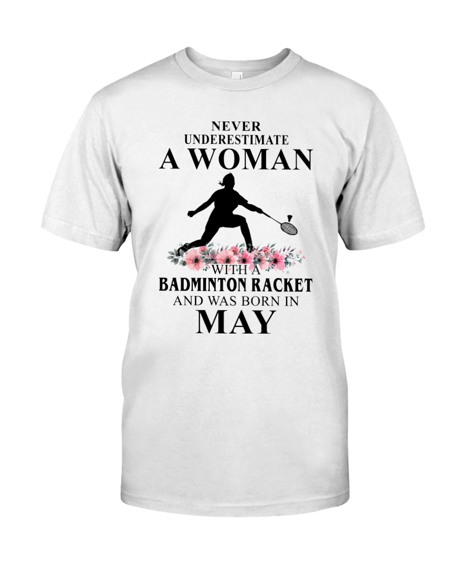 Badminton Woman Love Shirt Classic T-Shirt