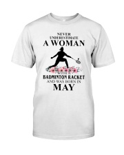 Badminton Woman Love Shirt Classic T-Shirt front