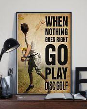 Disc Golf Nothing Goes Right 11x17 Poster lifestyle-poster-2