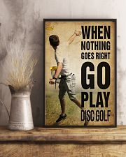 Disc Golf Nothing Goes Right 11x17 Poster lifestyle-poster-3