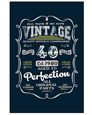 Vintage 1980 Edition 40th Birthday Gift 24x36 Poster thumbnail