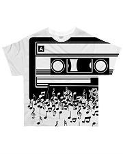 Retro Cool Audio Cassettes Bright Colours Edition All-over T-Shirt thumbnail