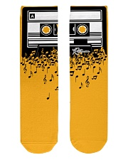 Retro Cool Audio Cassettes Bright Colours Edition Crew Length Socks front