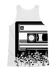 Retro Cool Audio Cassettes Bright Colours Edition All-over Unisex Tank thumbnail