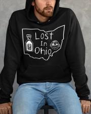 Lost In Ohio - Original Classic Map Hooded Sweatshirt apparel-hooded-sweatshirt-lifestyle-front-158