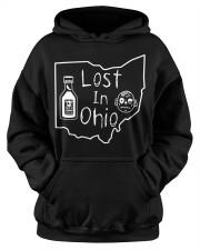 Lost In Ohio - Original Classic Map Hooded Sweatshirt apparel-hooded-sweatshirt-lifestyle-front-39