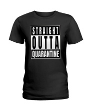Straight Outta Quarantine Freedom Edition Ladies T-Shirt tile