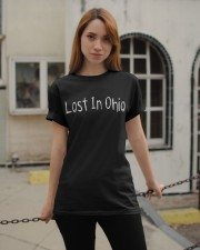 Lost In Ohio - Original Chest Text Classic T-Shirt apparel-classic-tshirt-lifestyle-19