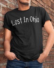 Lost In Ohio - Original Chest Text Classic T-Shirt apparel-classic-tshirt-lifestyle-26