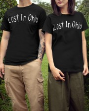 Lost In Ohio - Original Chest Text Classic T-Shirt apparel-classic-tshirt-lifestyle-front-152