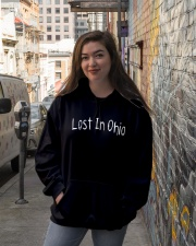 Lost In Ohio - Original Chest Text Hooded Sweatshirt lifestyle-unisex-hoodie-front-1