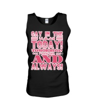 Gay in the USA Today Tomorrow Forever and Always Unisex Tank thumbnail