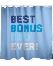 Best Bonus Dad Ever - Papa Father's Day Gift Idea Shower Curtain front