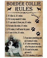 Funny Rules For Your Dog Border Collie 11x17 Poster front
