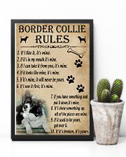 Funny Rules For Your Dog Border Collie 11x17 Poster lifestyle-poster-8