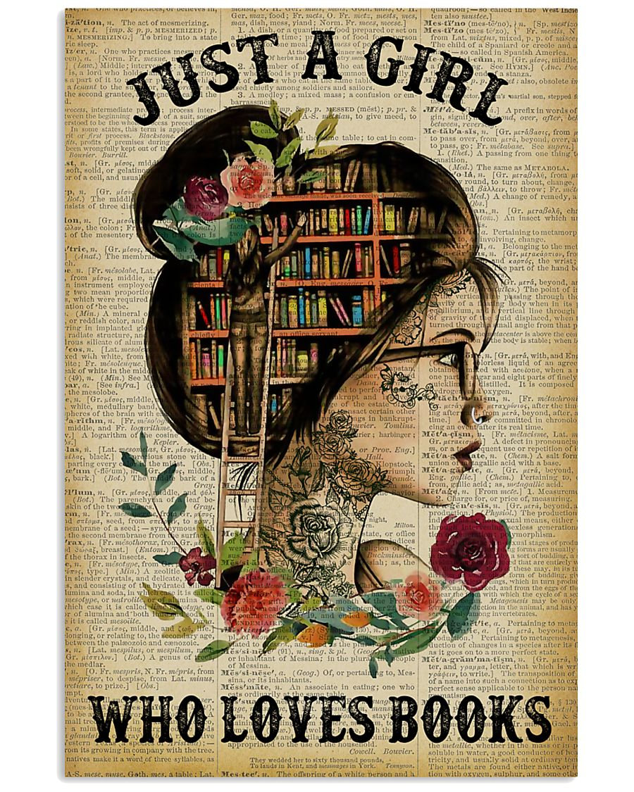 Just A Girl Who Loves Books Tattoo Reading 11x17 Poster