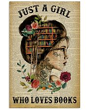 Just A Girl Who Loves Books Tattoo Reading 11x17 Poster front