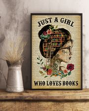 Just A Girl Who Loves Books Tattoo Reading 11x17 Poster lifestyle-poster-3