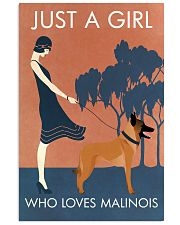 Vintage Girl Who Loves Malinois 11x17 Poster front