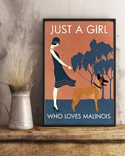 Vintage Girl Who Loves Malinois 11x17 Poster lifestyle-poster-3
