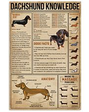 Knowledge Dachshund Wiener Dog 16x24 Poster front