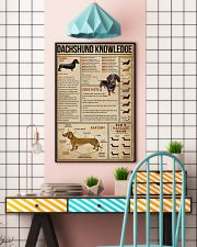 Knowledge Dachshund Wiener Dog 16x24 Poster lifestyle-poster-6
