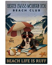 Vintage Beach Club Ruff Greater Swiss Mountain Dog 11x17 Poster front