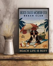Vintage Beach Club Ruff Greater Swiss Mountain Dog 11x17 Poster lifestyle-poster-3