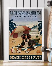 Vintage Beach Club Ruff Greater Swiss Mountain Dog 11x17 Poster lifestyle-poster-4