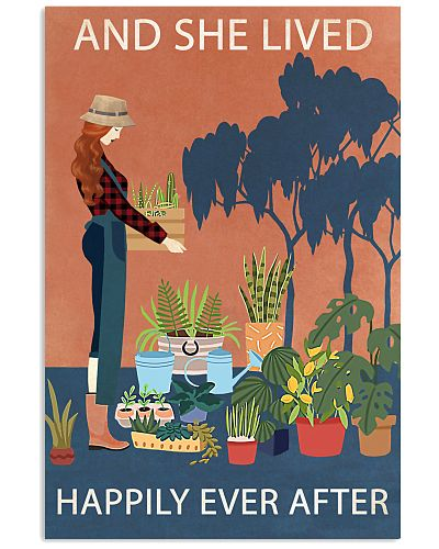 Vintage And She Lived Happily Gardening RedHead